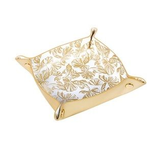 Lilly Pulitzer Valet Tray Jewelry Dish Gold White